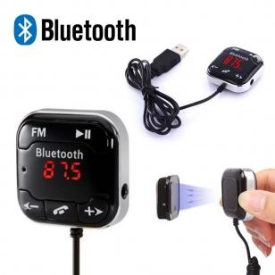 FM Transmitter bluetooth met kabel en magneet